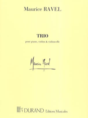 Maurice Ravel - Trio - Parties - Partition - di-arezzo.fr