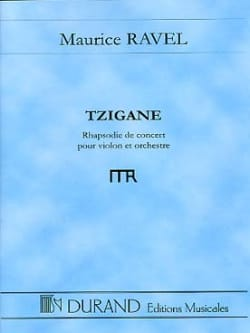Tzigane - Conducteur RAVEL Partition Grand format - laflutedepan