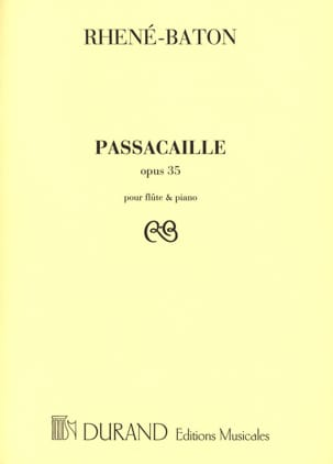 Rhené-Baton - passacaglia - Sheet Music - di-arezzo.co.uk