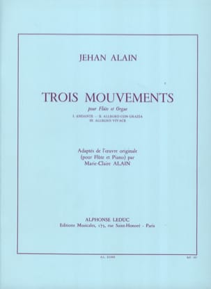 Jehan Alain - 3 Mouvements - Partition - di-arezzo.fr