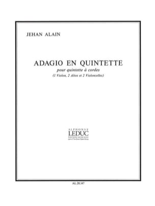 Jehan Alain - Adagio in quintet - Conductor parties - Sheet Music - di-arezzo.com