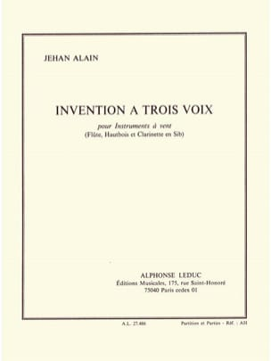 Jehan Alain - Invention with three voices - Trio winds - Sheet Music - di-arezzo.co.uk