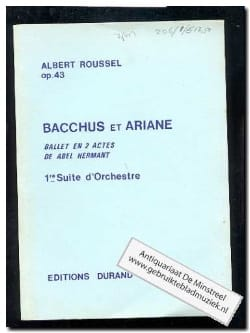 Albert Roussel - Bacchus and Ariane - Suite n ° 1 op. 43 - Driver - Sheet Music - di-arezzo.co.uk