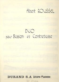 Albert Roussel - Duo for bassoon and double bass - Sheet Music - di-arezzo.co.uk