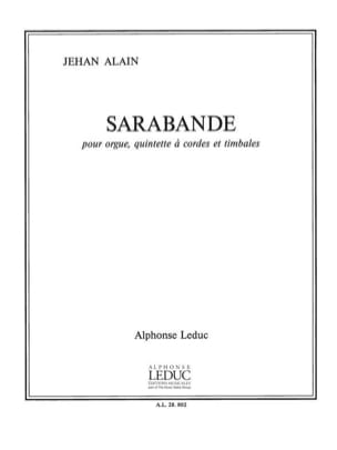 Jehan Alain - Sarabande - Organ-String Quintet-Timpani - Sheet Music - di-arezzo.co.uk