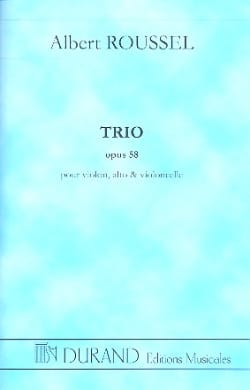 Albert Roussel - Trio op. 58 - Conducteur - Partition - di-arezzo.fr