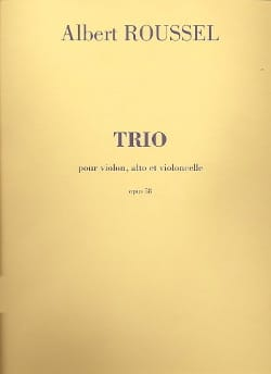 Albert Roussel - Trio op. 58 - Parties - Partition - di-arezzo.fr