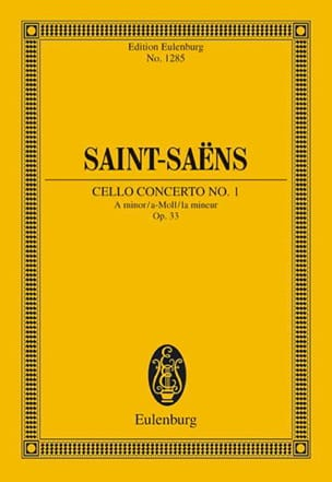 Camille Saint-Saëns - Violoncello-Konzert Nr. 1 a-moll - Sheet Music - di-arezzo.co.uk