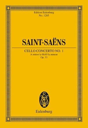 Camille Saint-Saëns - Violoncello-Konzert Nr. 1 a-moll - Partition - di-arezzo.fr