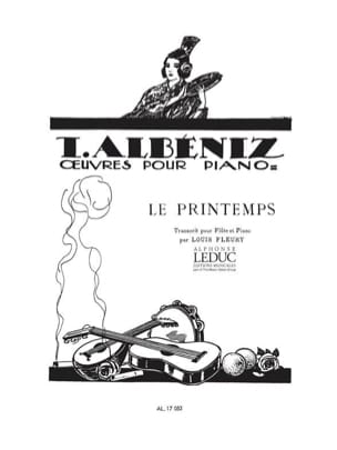 Le Printemps - Flûte piano ALBENIZ Partition laflutedepan