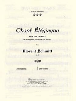 Florent Schmitt - Elegic singing - Sheet Music - di-arezzo.com