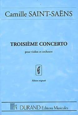 Camille Saint-Saëns - Concerto Violon n° 3 op. 61 - Conducteur - Partition - di-arezzo.fr