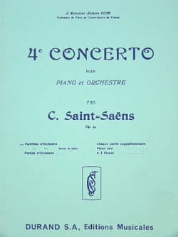Concerto Piano n° 4 op. 44 - Conducteur SAINT-SAËNS laflutedepan