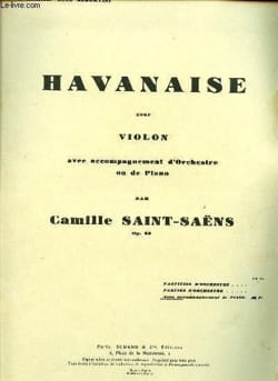 Camille Saint-Saëns - Havanese op. 83 - Driver - Sheet Music - di-arezzo.co.uk