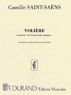 Camille Saint-Saëns - The aviary - Piano flute - Sheet Music - di-arezzo.com