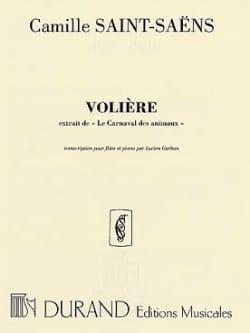 Camille Saint-Saëns - La volière – Flûte piano - Partition - di-arezzo.fr