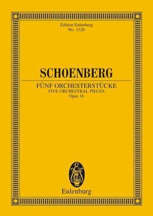 Arnold Schoenberg - Fünf Orchesterstücke - Partition - di-arezzo.fr