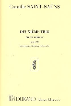 Camille Saint-Saëns - Trio No. 2 in E minor op. 92 - Sheet Music - di-arezzo.co.uk