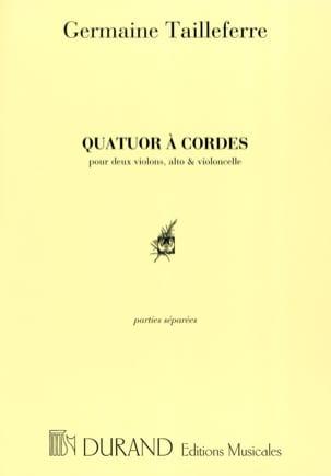 Germaine Tailleferre - Quatuor à Cordes - Parties - Partition - di-arezzo.fr