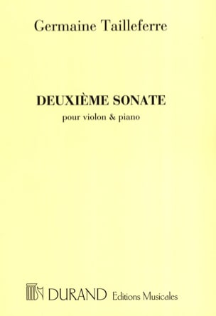 Sonate n° 2 Germaine Tailleferre Partition Violon - laflutedepan
