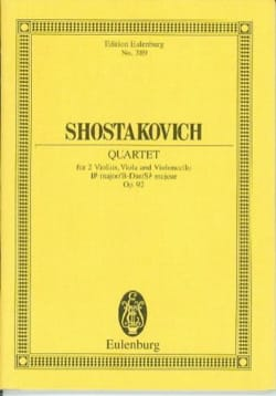 Dmitri Chostakovitch - Streich-Quartett N° 5 - Partition - di-arezzo.fr