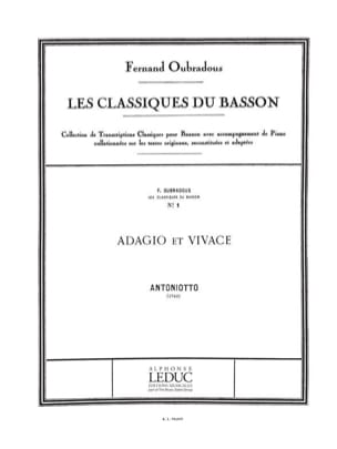 Antonietto / Oubradous F. - Adagio and Vivace - Sheet Music - di-arezzo.com