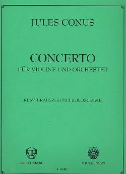 Julius Conus - Violin Concerto - Sheet Music - di-arezzo.co.uk