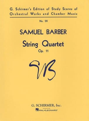 Samuel Barber - Quartet quartet op. 11 - Score - Sheet Music - di-arezzo.co.uk