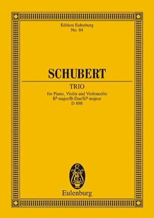 SCHUBERT - Klavier-Trio B-Dur D 898 - Partitur - Sheet Music - di-arezzo.co.uk