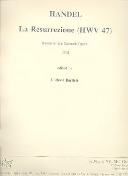 Georg Friedrich Haendel - La Resurrezione HWV 47 – Score - Partition - di-arezzo.fr