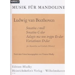 BEETHOVEN - 4 Stücke - Mandolin and Piano - Sheet Music - di-arezzo.co.uk