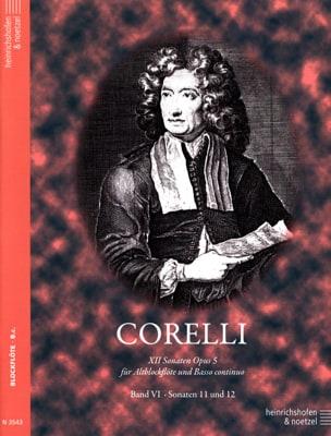 12 Sonaten op. 5 - Bd. 6 - Altblockflöte u. Bc CORELLI laflutedepan