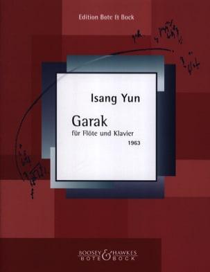 Isang Yun - Garak – Flöte Klavier - Partition - di-arezzo.fr