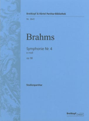 BRAHMS - Symphony No. 4 E-Moll Op. 98 - Sheet Music - di-arezzo.co.uk