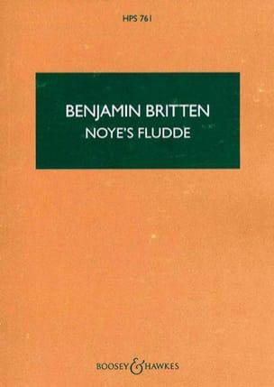 Noye's Fludde - Score BRITTEN Partition Petit format - laflutedepan