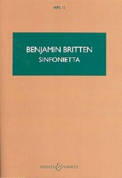 Sinfonietta - Score BRITTEN Partition Petit format - laflutedepan