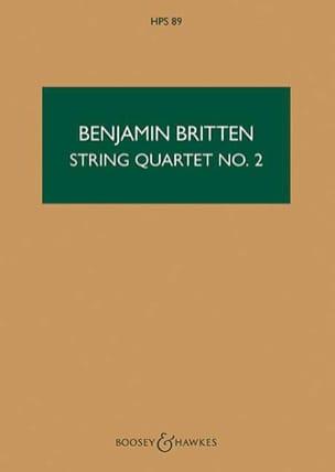 Benjamin Britten - String quartet n ° 2 op. 36 - Score - Partition - di-arezzo.co.uk