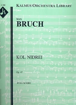 Max Bruch - Kol Nidrei op. 47 – Cello et orchestre - Partition - di-arezzo.fr