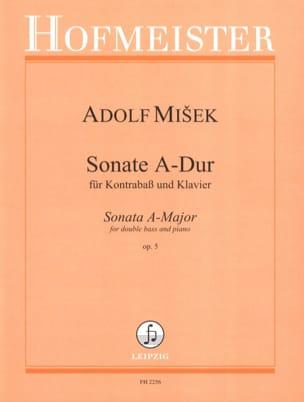 Sonate A-Dur op. 5 - Kontrabass Klavier Adolf Misek laflutedepan