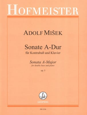 Adolf Misek - Sonata A-Dur op. 5 - Kontrabass Klavier - Sheet Music - di-arezzo.co.uk