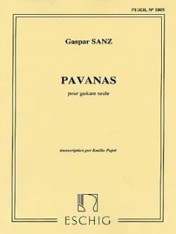 Pavanas Gaspar Sanz Partition Guitare - laflutedepan