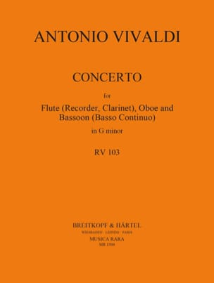 VIVALDI - Concerto in min. - F. 12 No. 4 - Flute / Oboe / Bassoon - Sheet Music - di-arezzo.co.uk