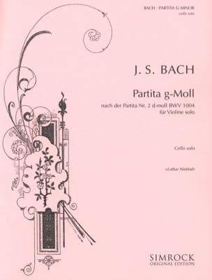 Johann Sebastian Bach - Partita g-moll – Cello Solo - Partition - di-arezzo.fr
