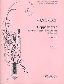 Max Bruch - Doppelkonzert op. 88 - Klarinette o. Violine Viola Klavier - Partitura - di-arezzo.es