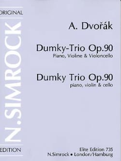 Dumky Trio op. 90 –Stimmen - Antonin Dvorak - laflutedepan.com