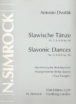 Slawische Tänze Nr. 3, 6 u. 8 op. 46 -Streichquartett - Stimmen - laflutedepan.com