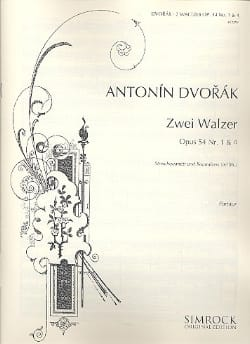 DVORAK - 2 Walzer op. 54 Nr. 1 - 4 - 2 Violine, Viola, Cello, Kontrabass ad lib. - Partition - di-arezzo.co.uk