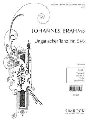 BRAHMS - Ungarische Tänze Nr. 5-6 - Streichquartett - Stimmen - Sheet Music - di-arezzo.co.uk