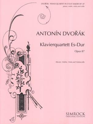 Klavierquartett Es-Dur op. 87 - Partitur + Stimmen DVORAK laflutedepan
