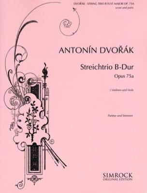 Antonin Dvorak - Miniatures Streichtrio B-Dur Op. 75a –partitur + Stimmen - Partition - di-arezzo.fr
